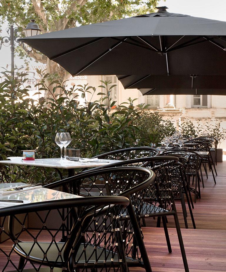 Terrasse Hotel Richer De Belleval Montpellier